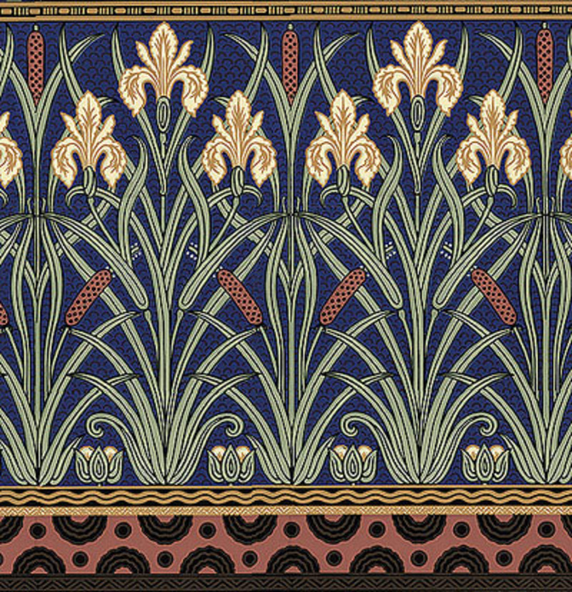 Iris Motifs Design For The Arts Amp Crafts House Arts