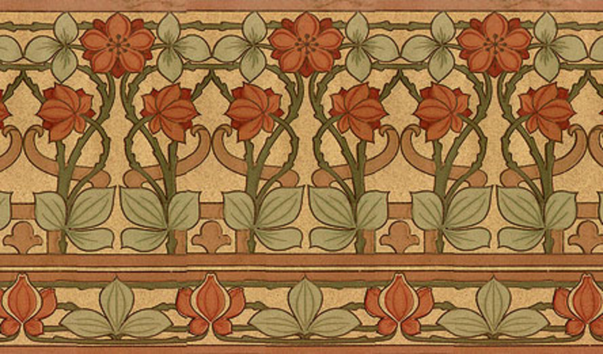 Arts Crafts Revival Wallpaper And Paint Products Design For