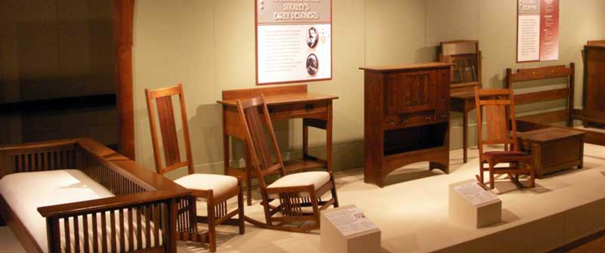 Antique Stickley display, Stickley museum