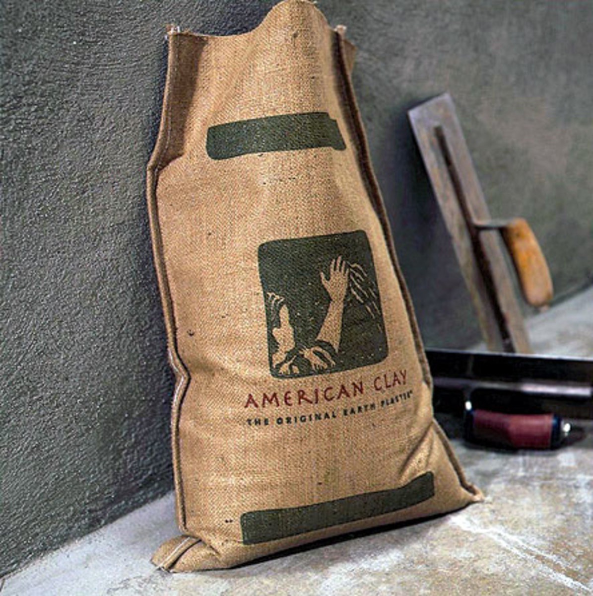 bag of American Clay earth plaster