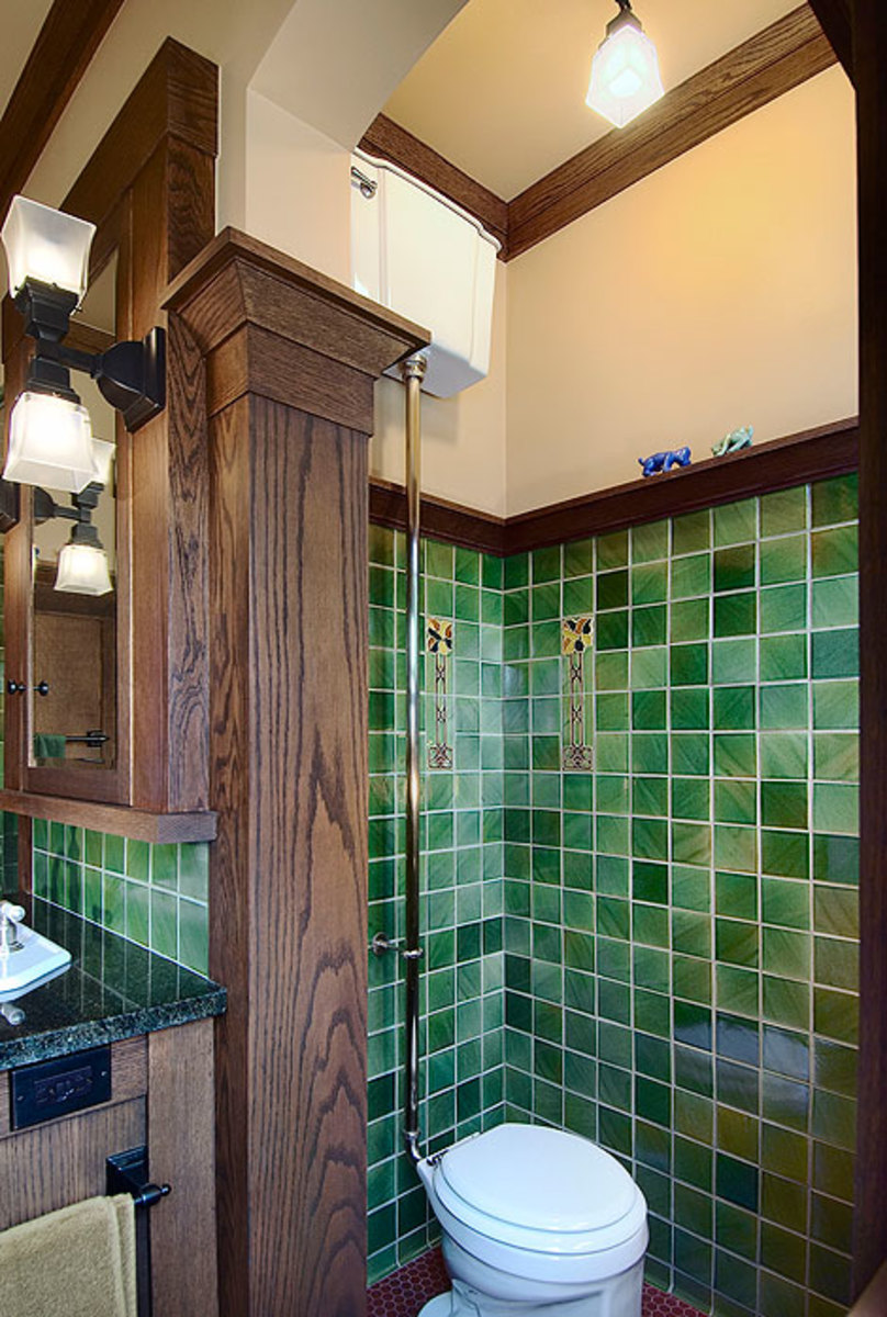 Arts & Crafts bathroom millwork