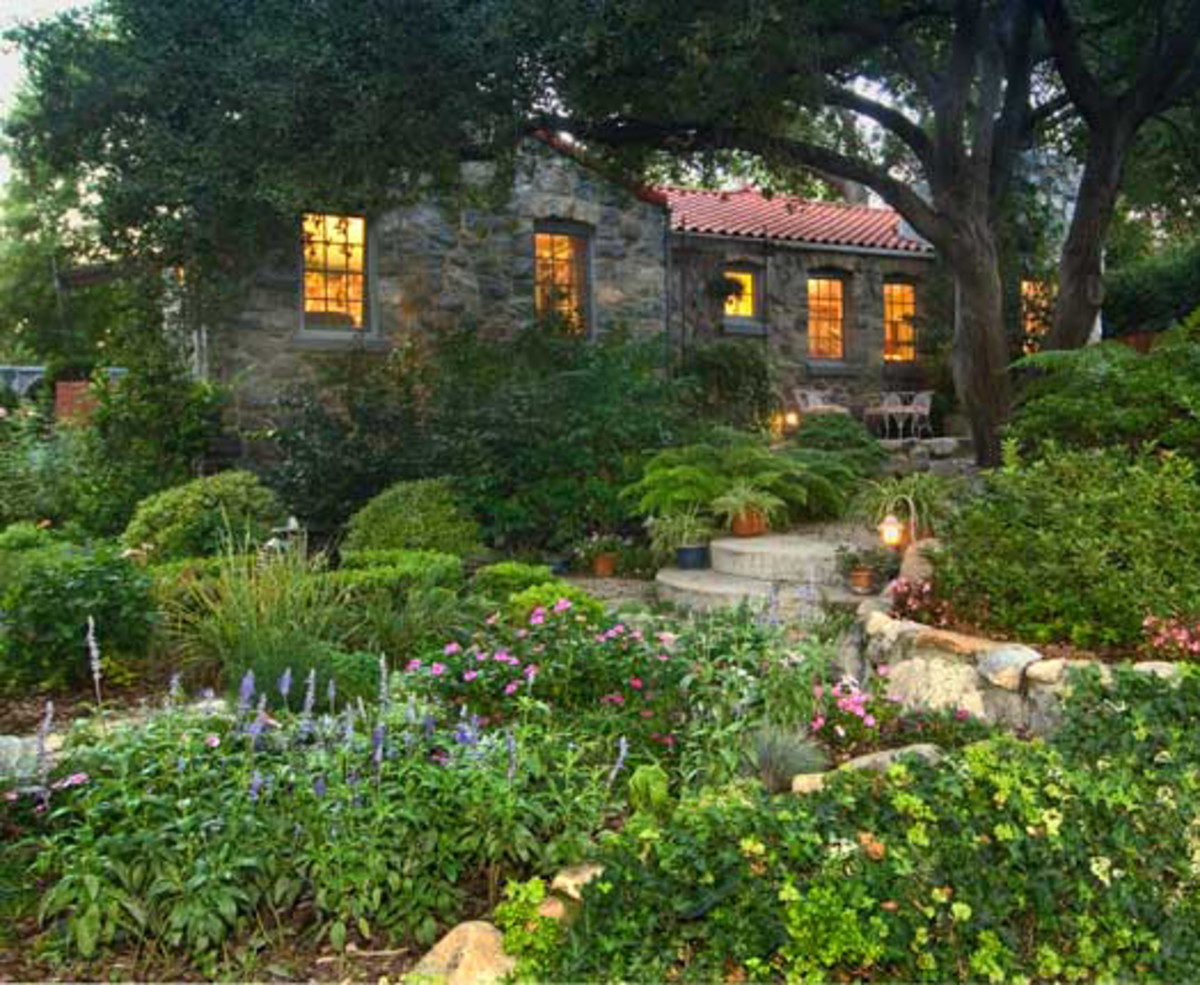 Magical Garden For A 1929 Spanish Colonial Revival