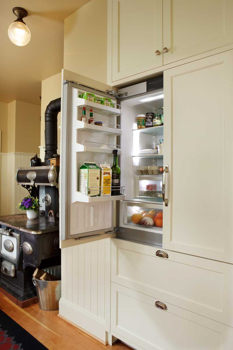 This Liehbherr refrigerator/freezer is designed to be integrated into cabinets. Photo: Blackstone Edge