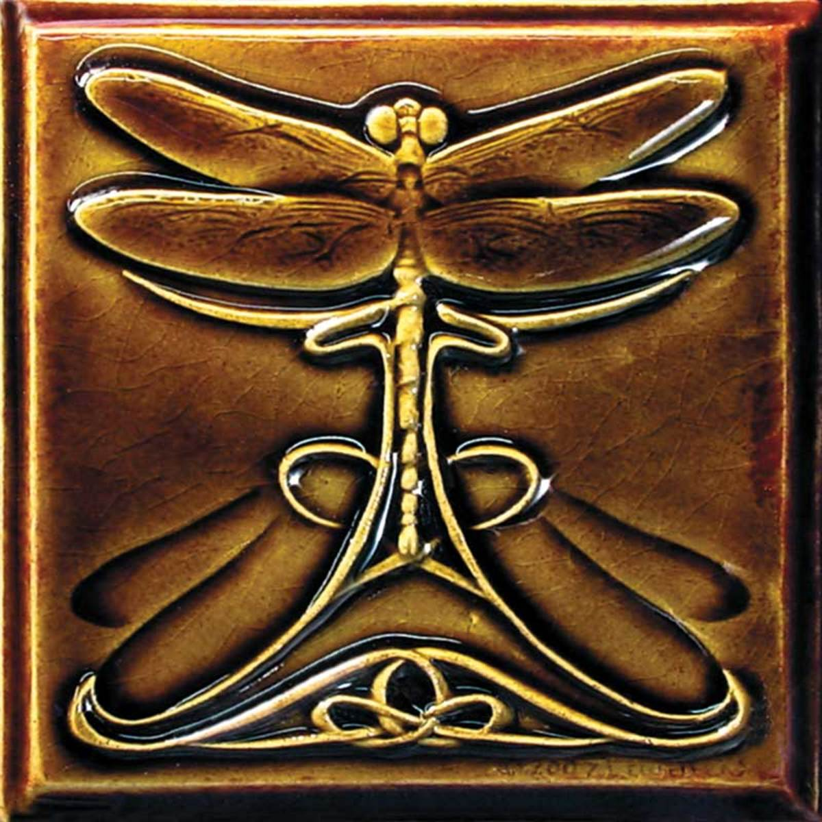 Lewellen's ceramic dragonfly tile