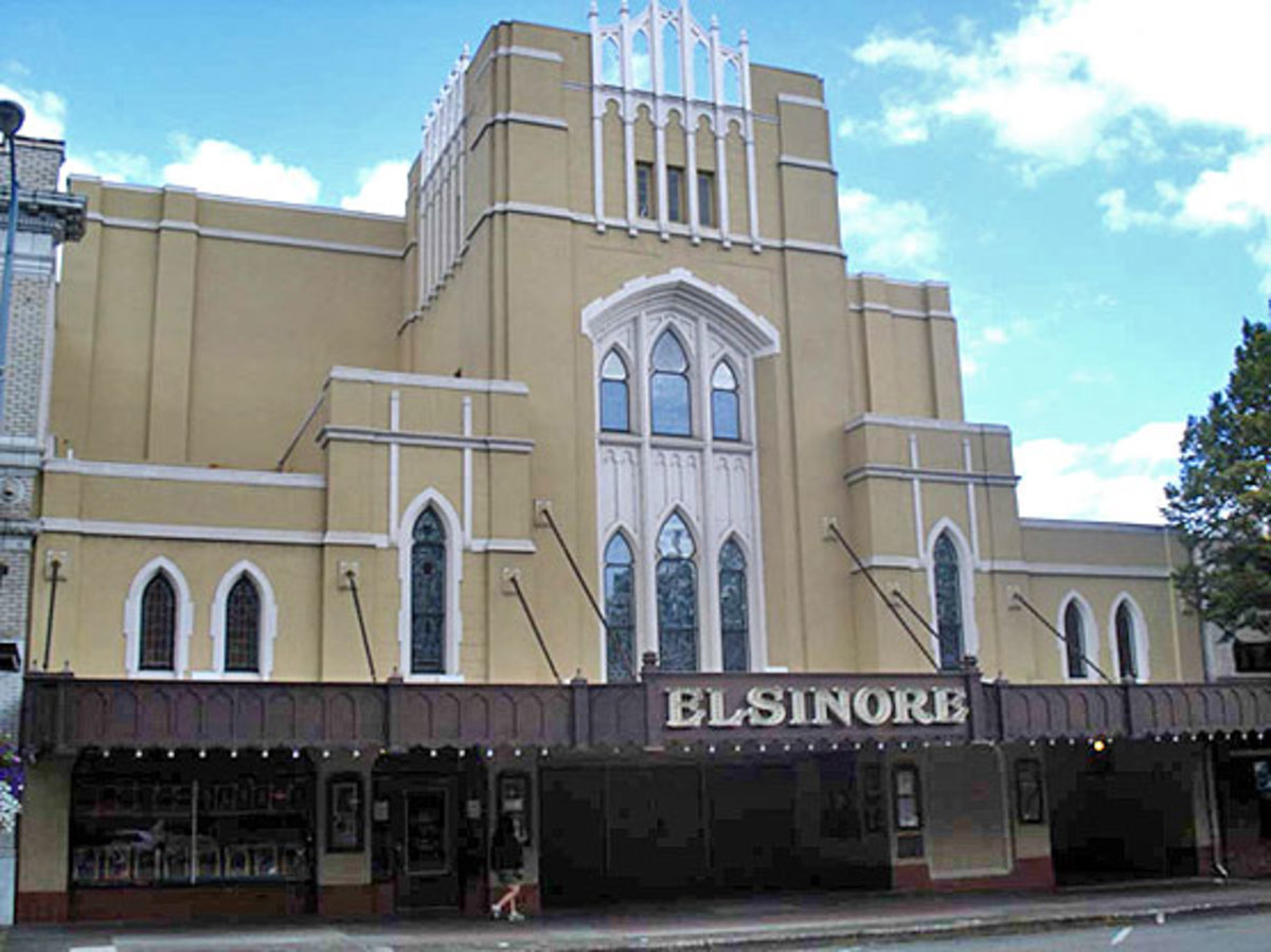 Salem's Elsinore Theatre, built in 1926, has a Tudor-Gothic interior.