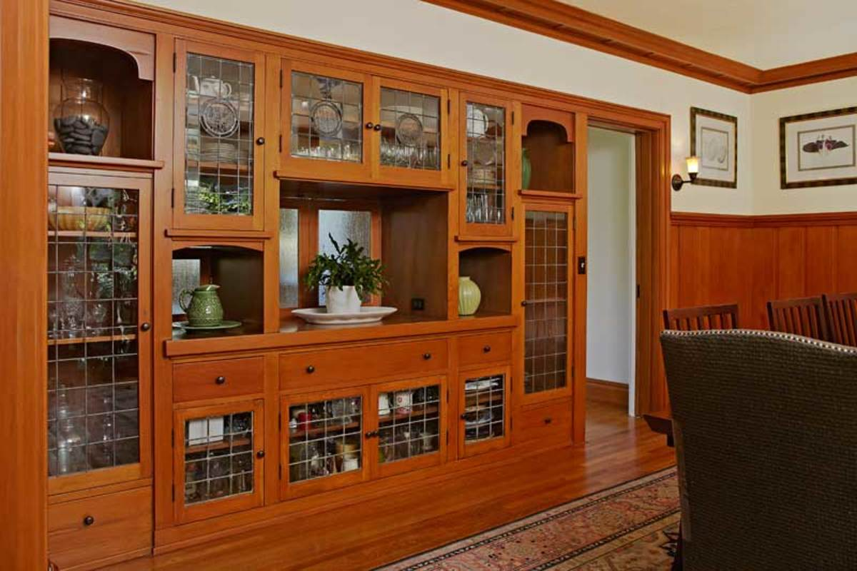 large built-in buffet