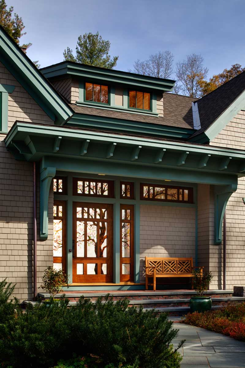 shingled timber-frame house
