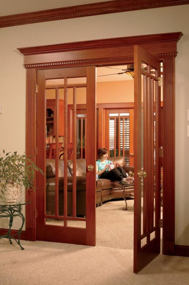 New French interior doors by Woodharbor Doors .woodharbor.com have a period- & French Doors Let In the Light - Design for the Arts u0026 Crafts House ...