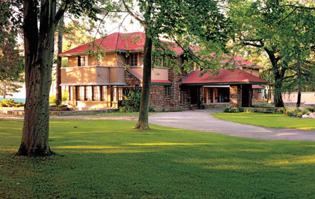 Graycliff has recently been restored; it was designed as a summer house by Frank Lloyd Wright for client Isabelle Martin.