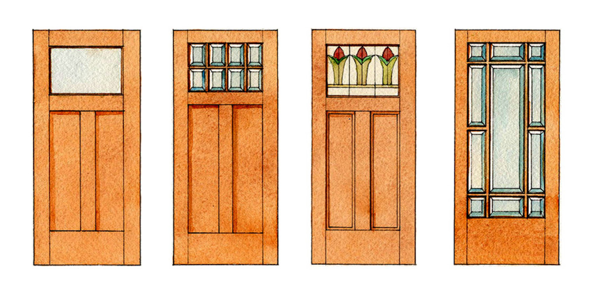 Arts & Crafts door designs