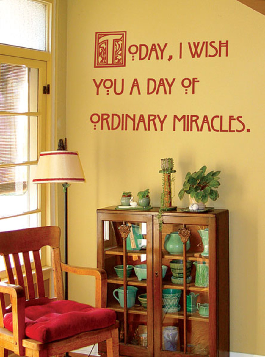Stenciled quotations  in the manner of this period  more at WallWords  wallwords com. Arts   Crafts Revival Wallpaper and Paint Products   Arts   Crafts