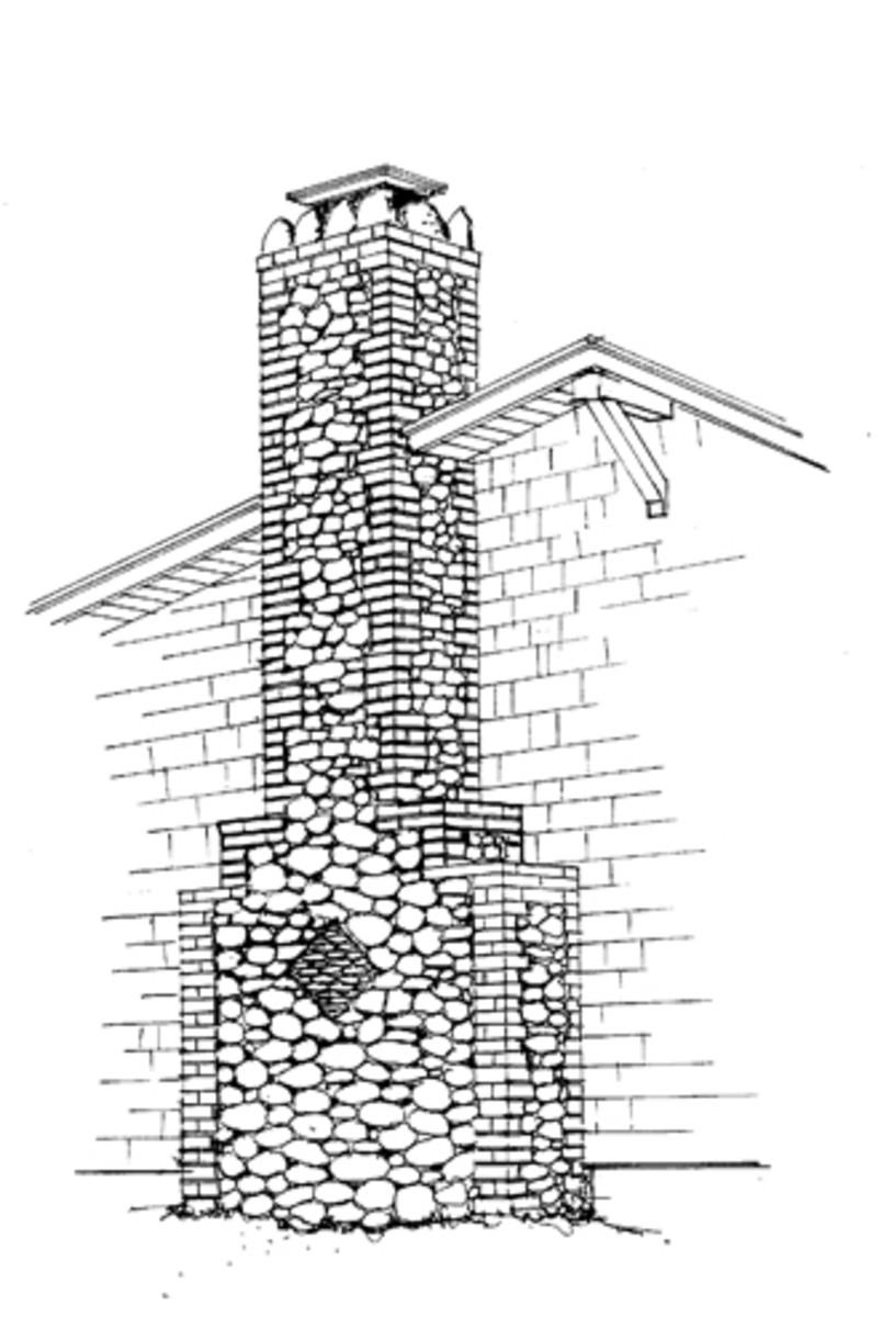 bungalow chimney plan drawing