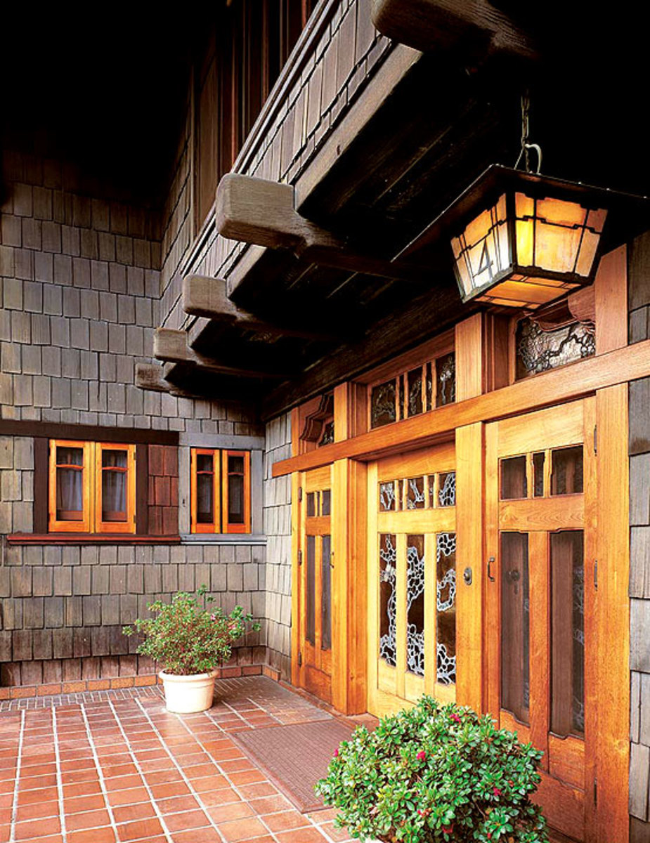 Gamble House front entrance