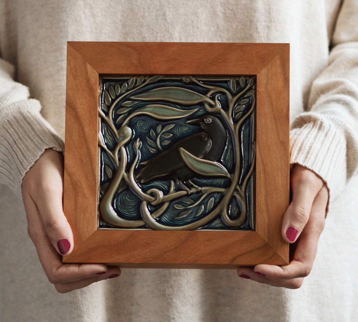 Gift tiles like the Revival Rook are available framed from the online store.