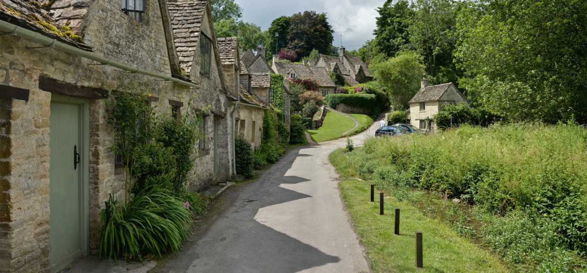 Bibury Cottages in the Cotswolds