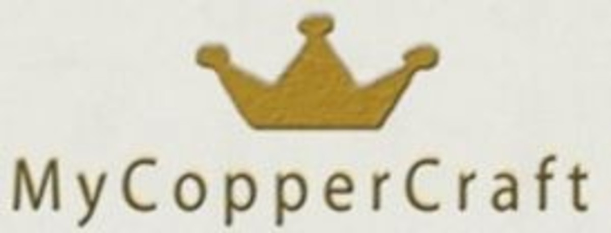 Accent copper tiles logo
