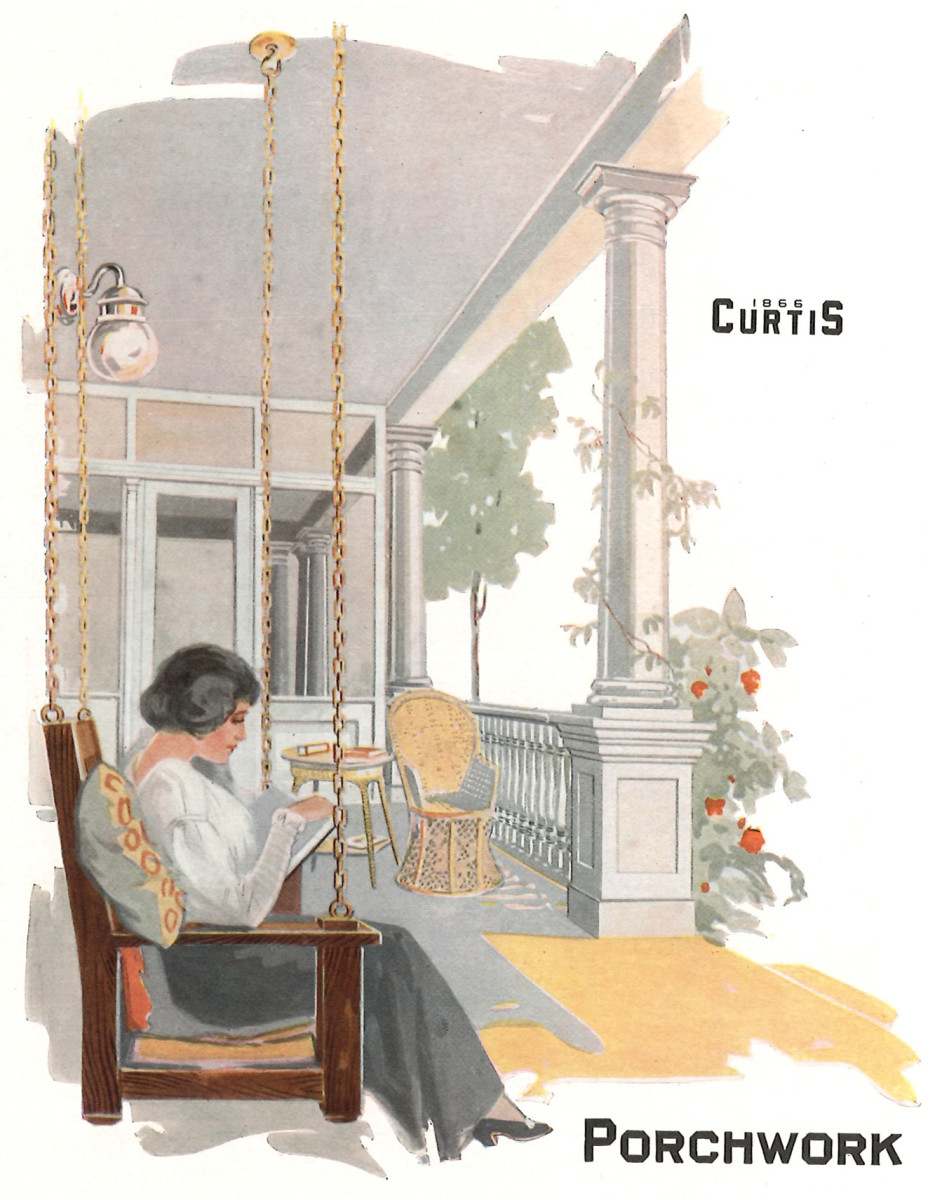 Curits Porchwork General Millwork Catalog, porch swing
