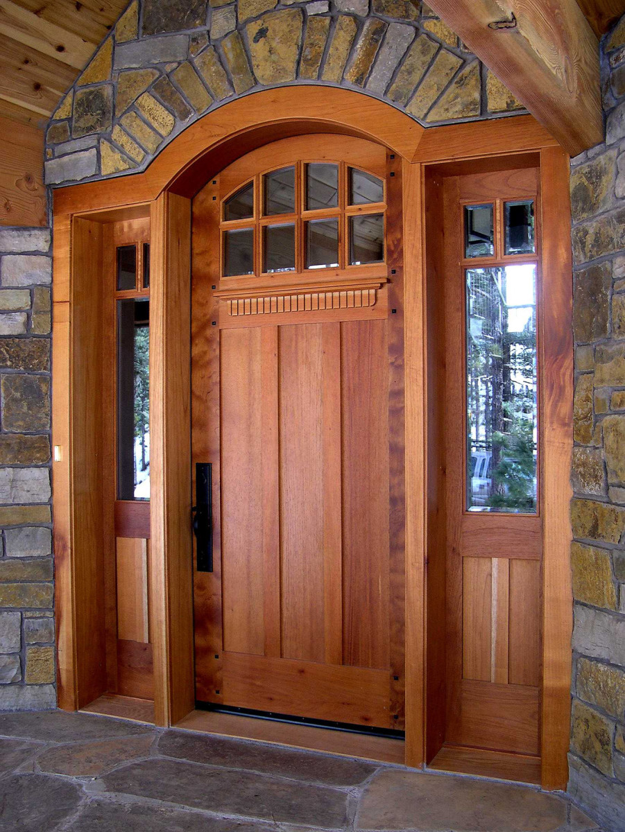 Arts & Crafts-style door