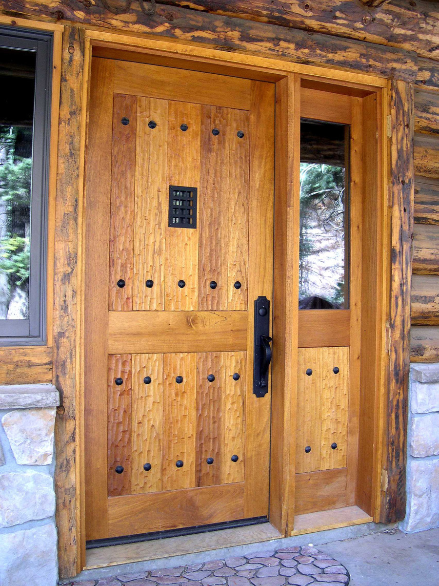 custom wood door by Doug Christie