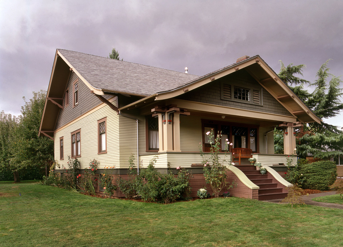 The 1914 Craftsman Bungalow may have been built from a plan book