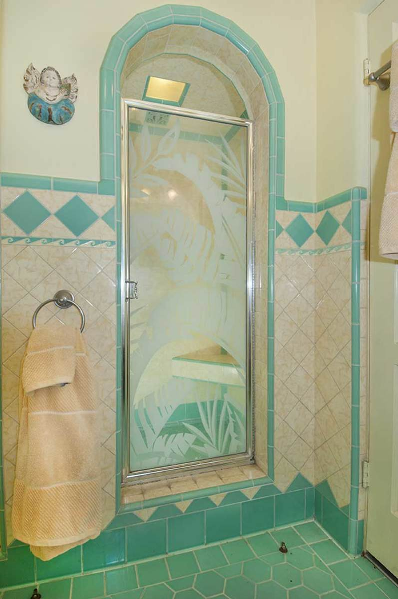 This bathroom is original, in a 1934 hacienda in San Marino. Photo: Chris Considine