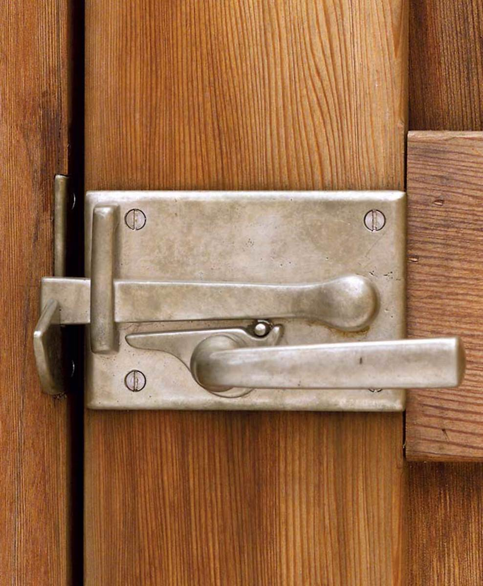 A cabinet latch by Sun Valley Bronze.
