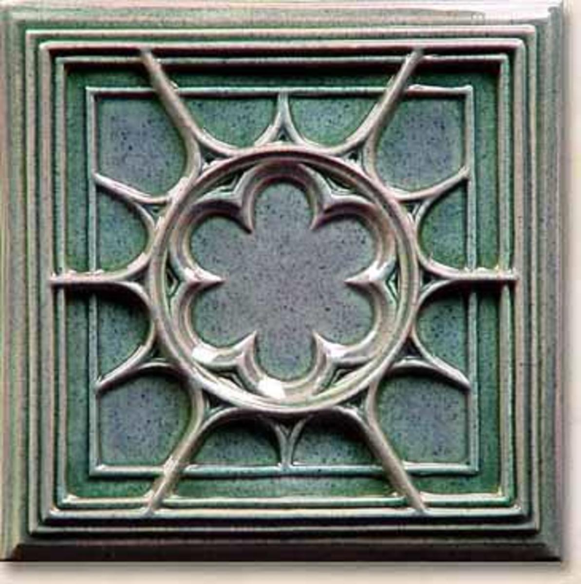 Tudor tile art tile