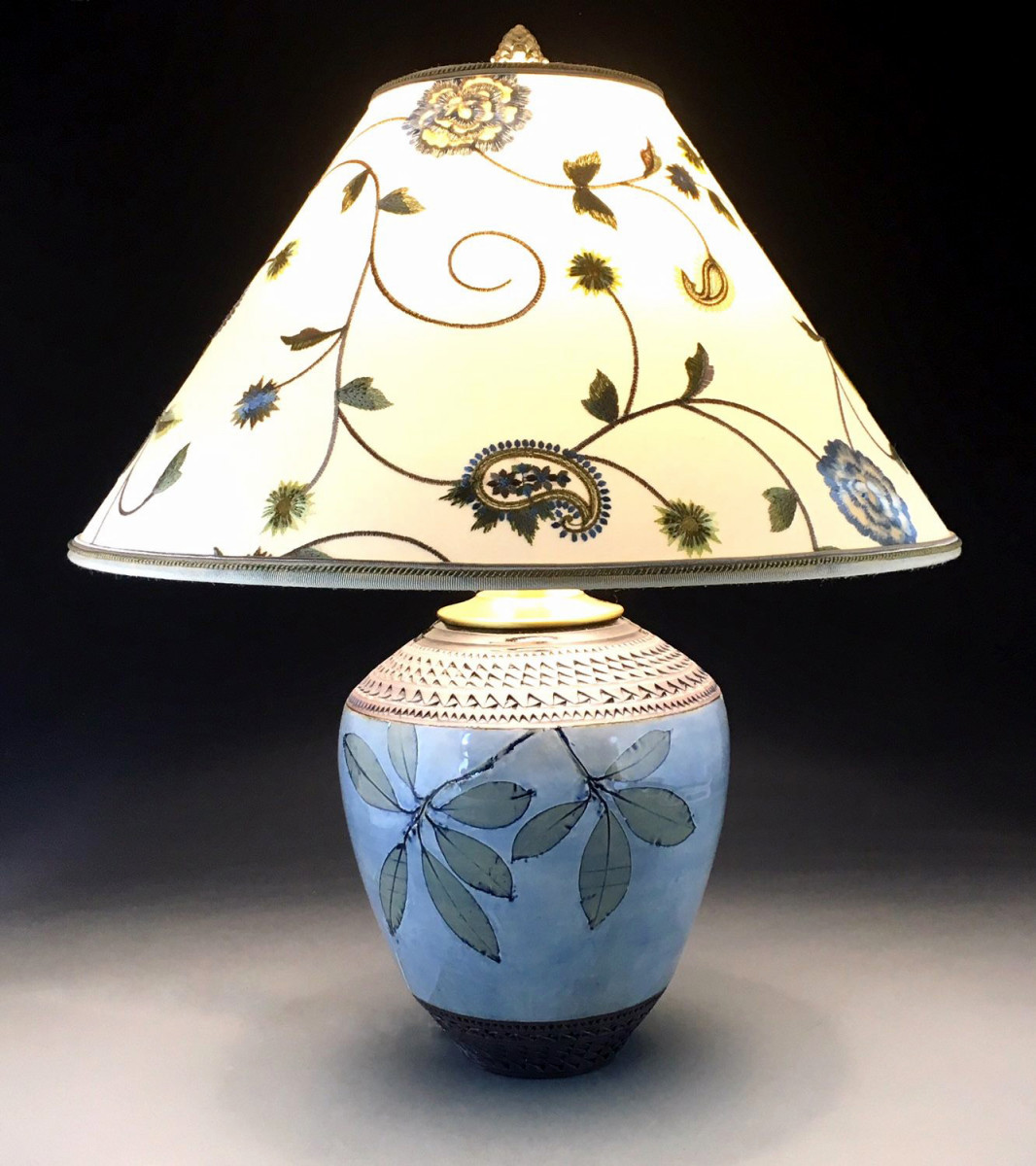 Suzanne Crane Arts & Crafts pottery lamp