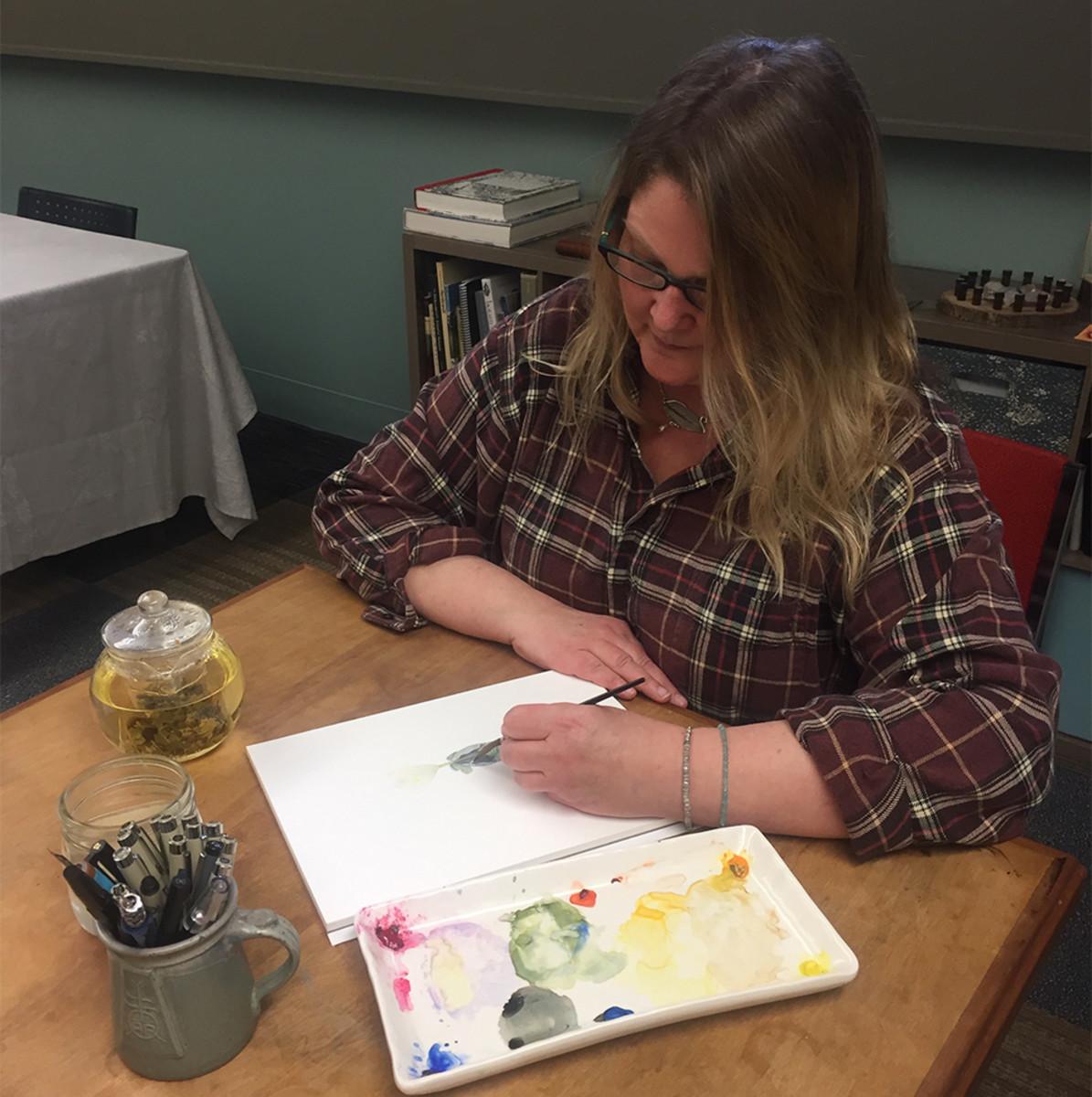 Roycroft Artist in Residence Kateri Ewing