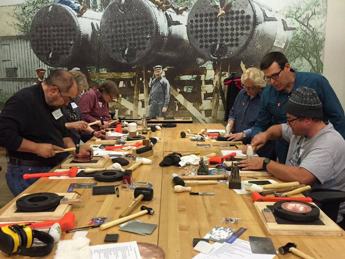 Roycroft Campus Workshops metalsmithing
