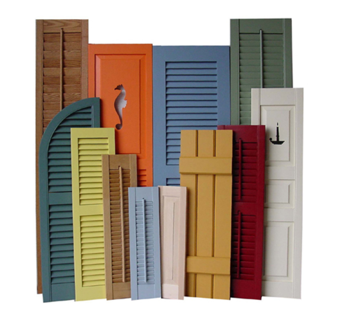 Shuttercraft makes a variety of shutter designs for 20th-century houses.