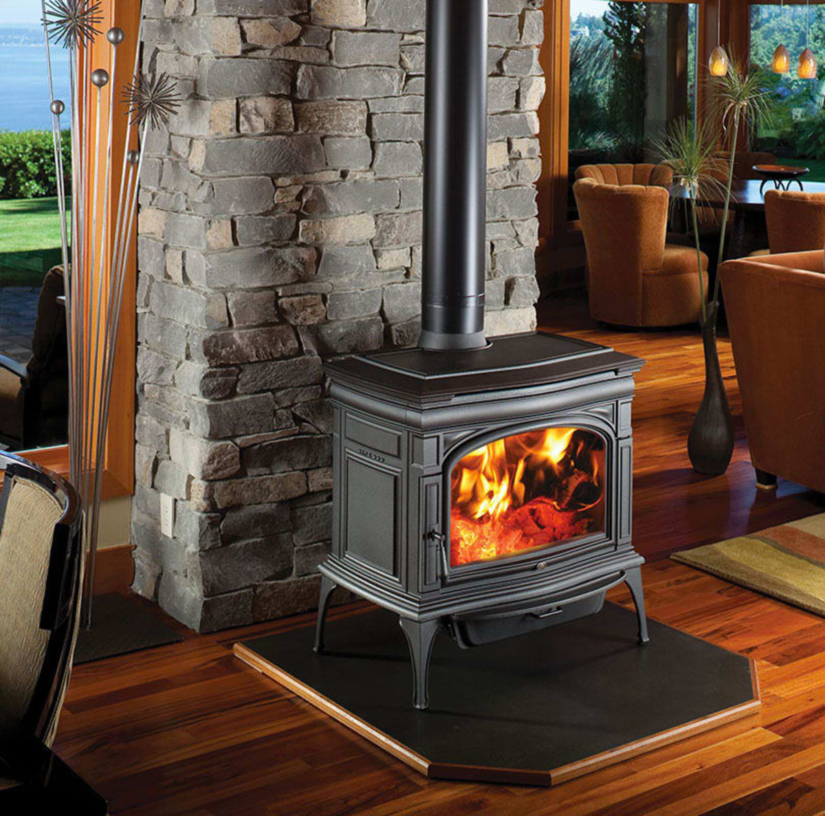 This heating stove is from Fires of Tradition.