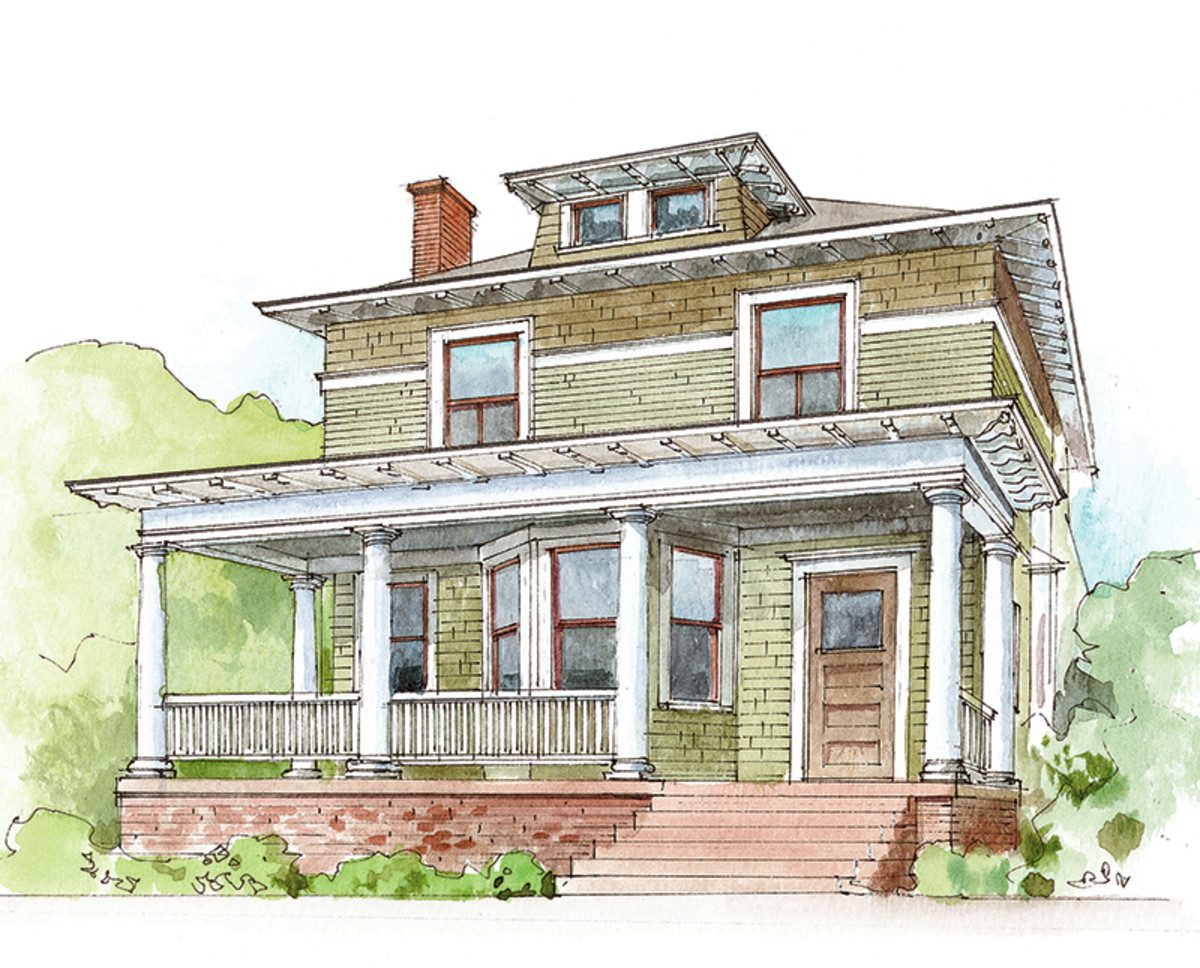 House Styles American Foursquare Design For The Arts