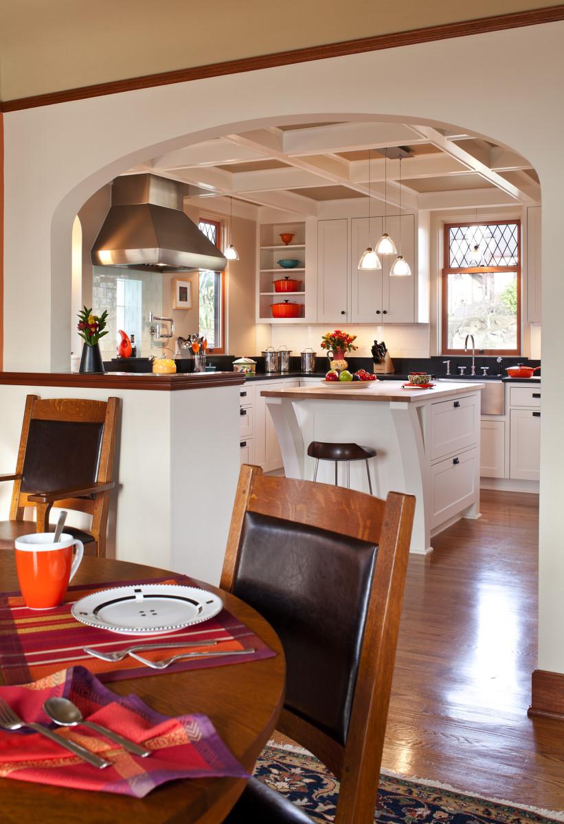 Arts & Crafts white kitchen