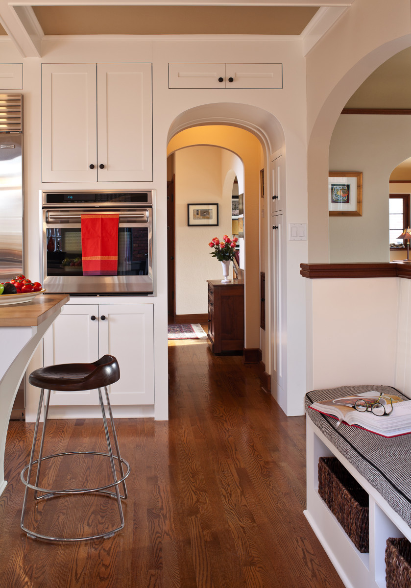 Tudor arch in kitchen