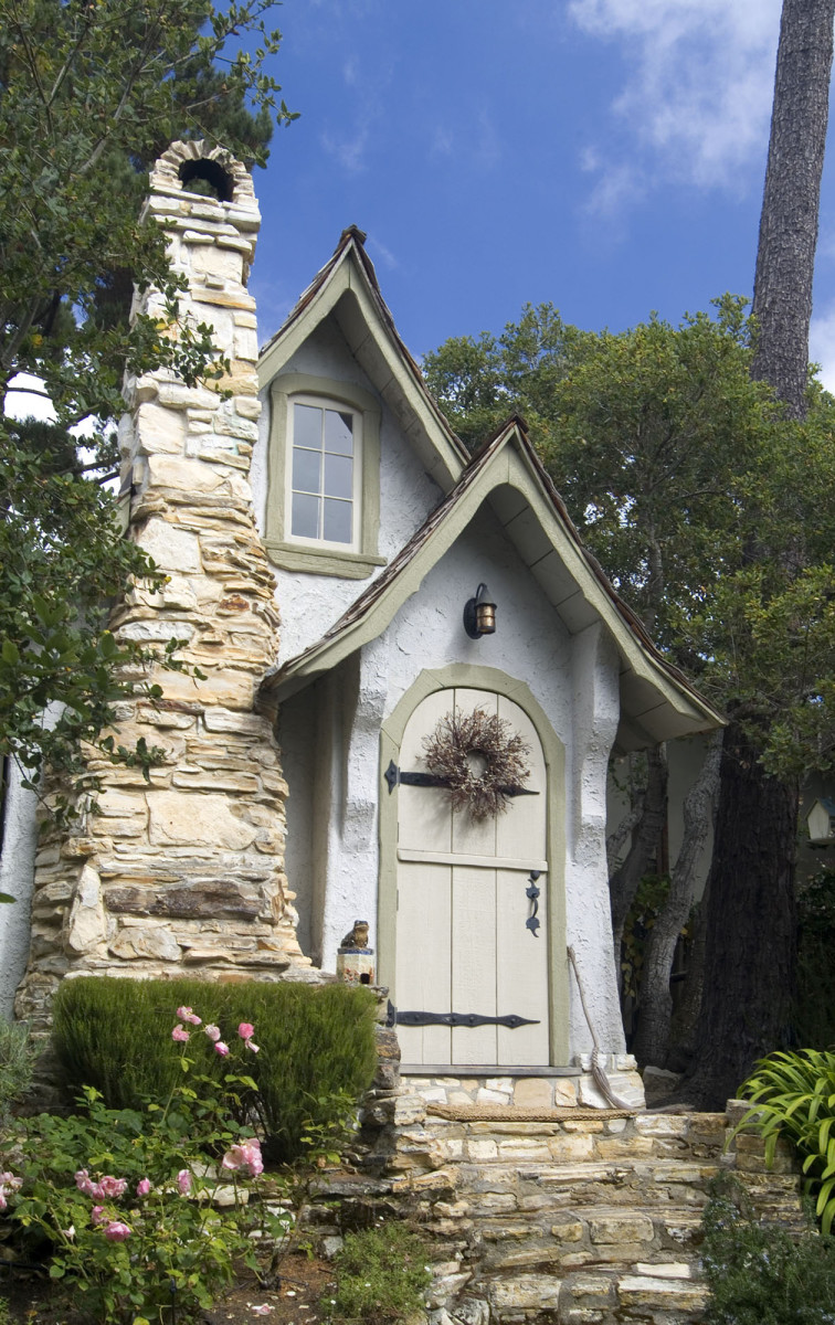 "Builder Hugh Comstock's own house in Carmel, called ""Hansel,"" was built in 1924."