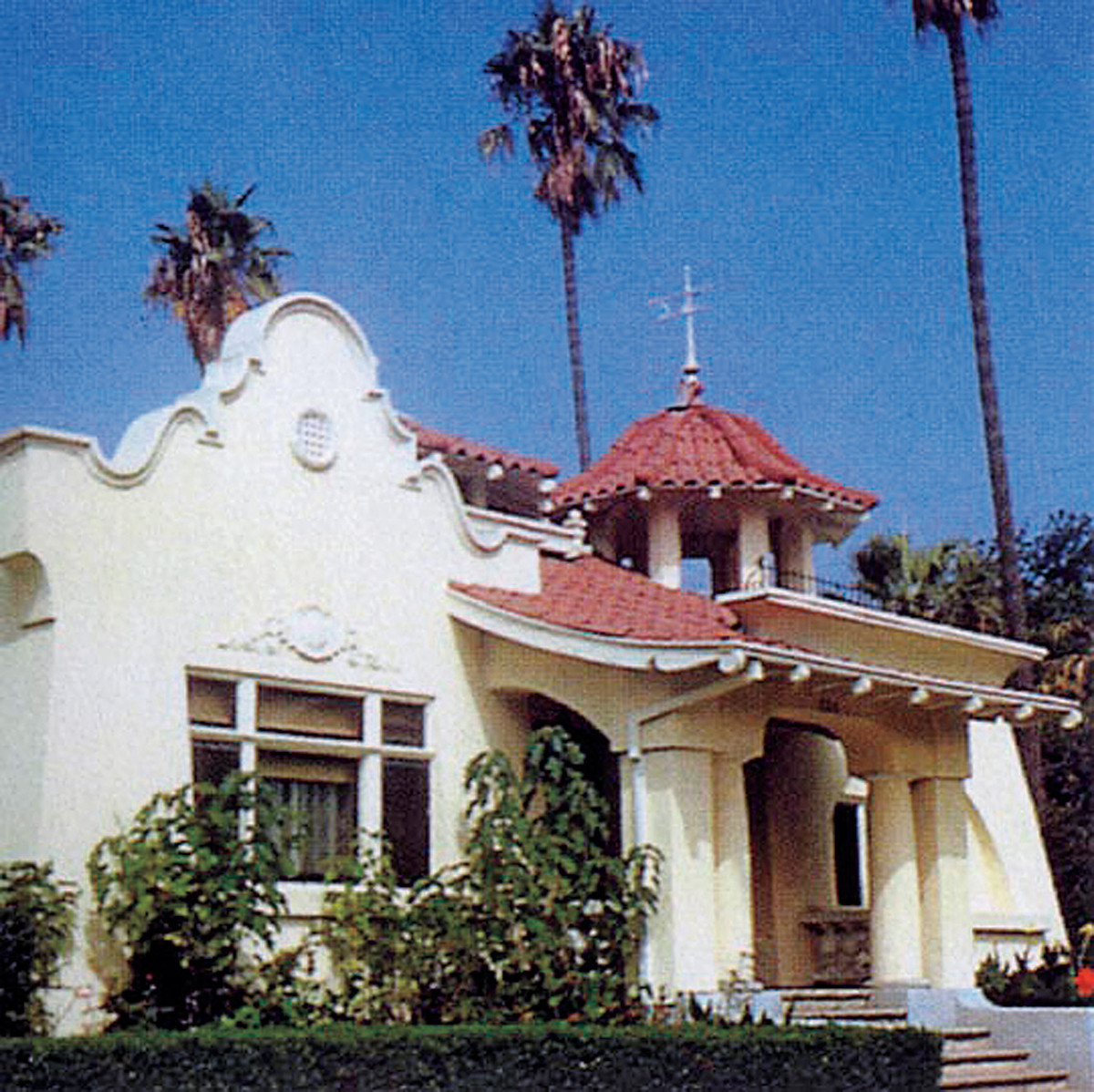 This is a rare bungalow-size example with a particularly pretty bell tower. The house is in Santa Barbara.