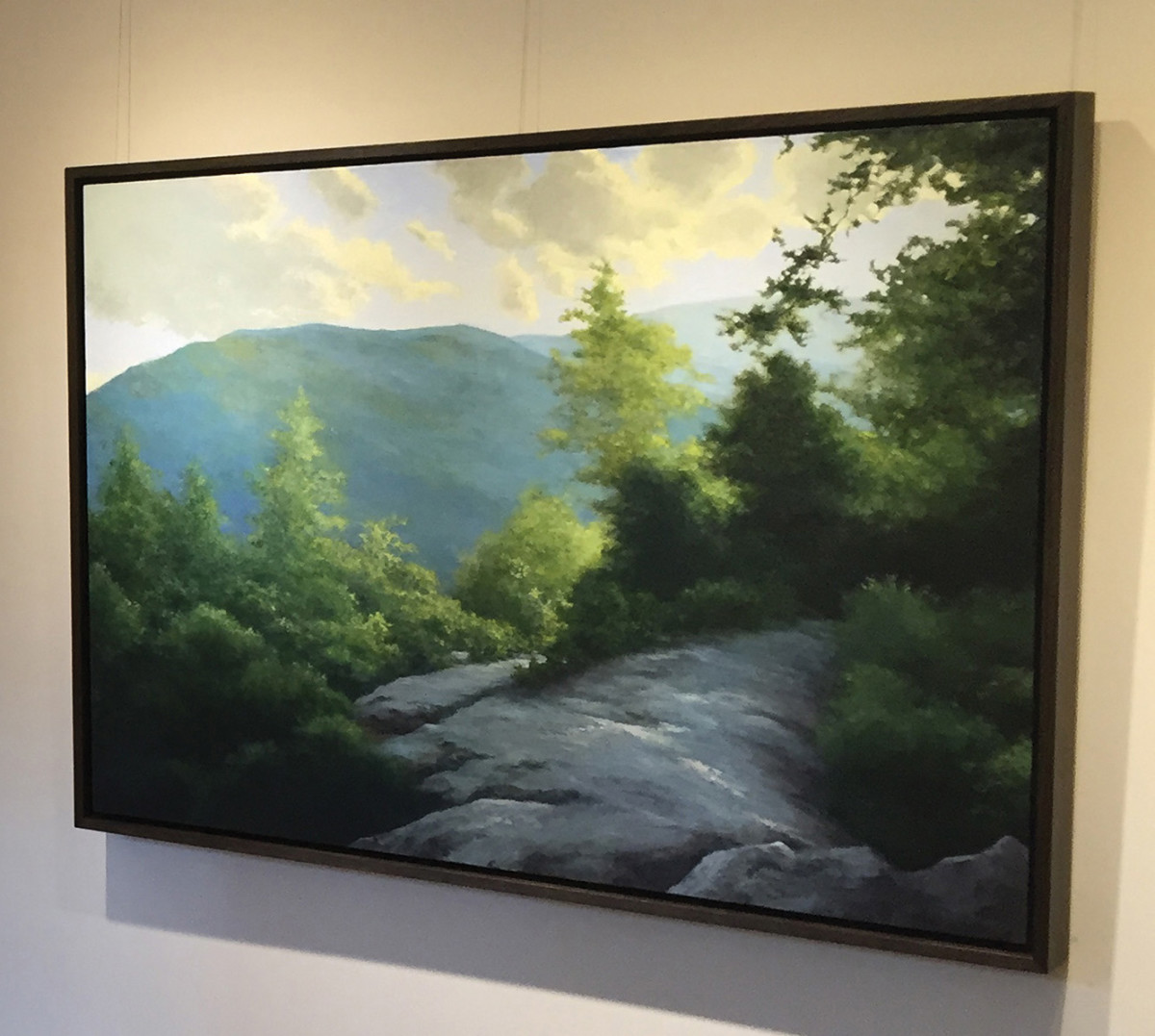 "Krueger's ""Elk Mountain Road"" hangs this year as part of his solo exhibition at the Grovewood Gallery in Asheville, N.C."