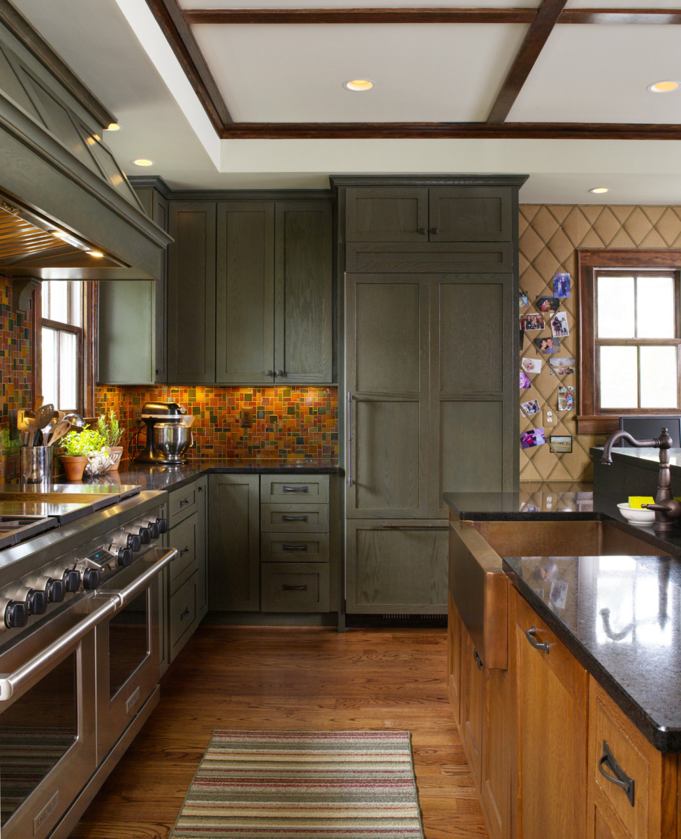 Arts & Crafts era kitchen cabinets