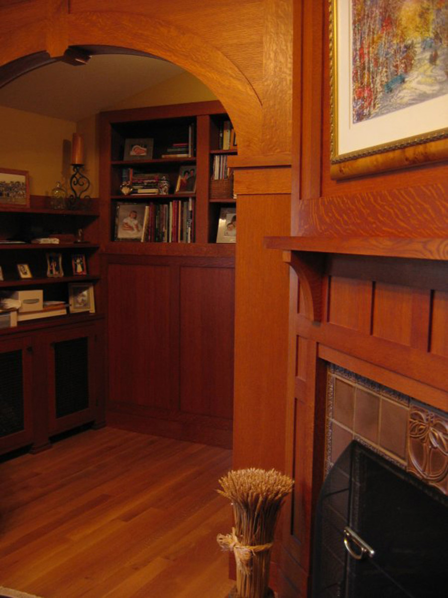 Built-ins and some new woodwork also were added to original rooms in the house, including a small study.