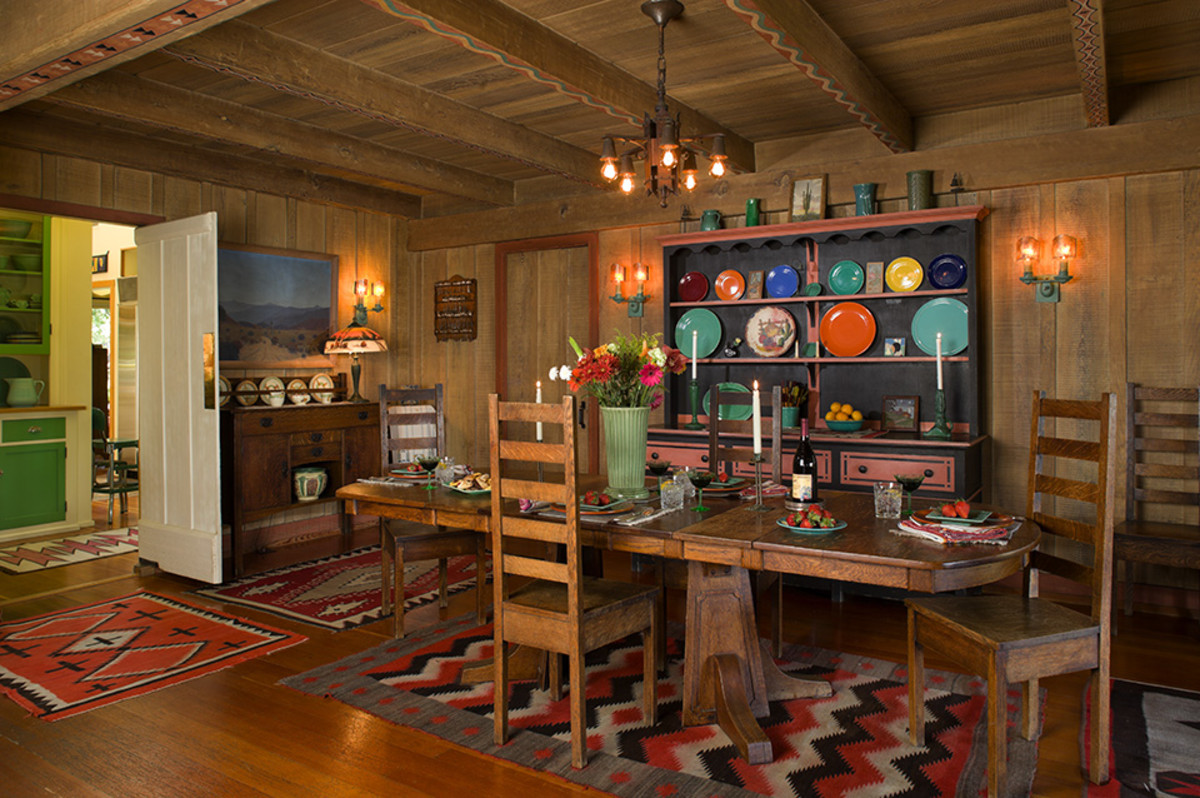 Navajo Rugs Are Among The Collectibles In A Historic Bungalow Ojai California Photo