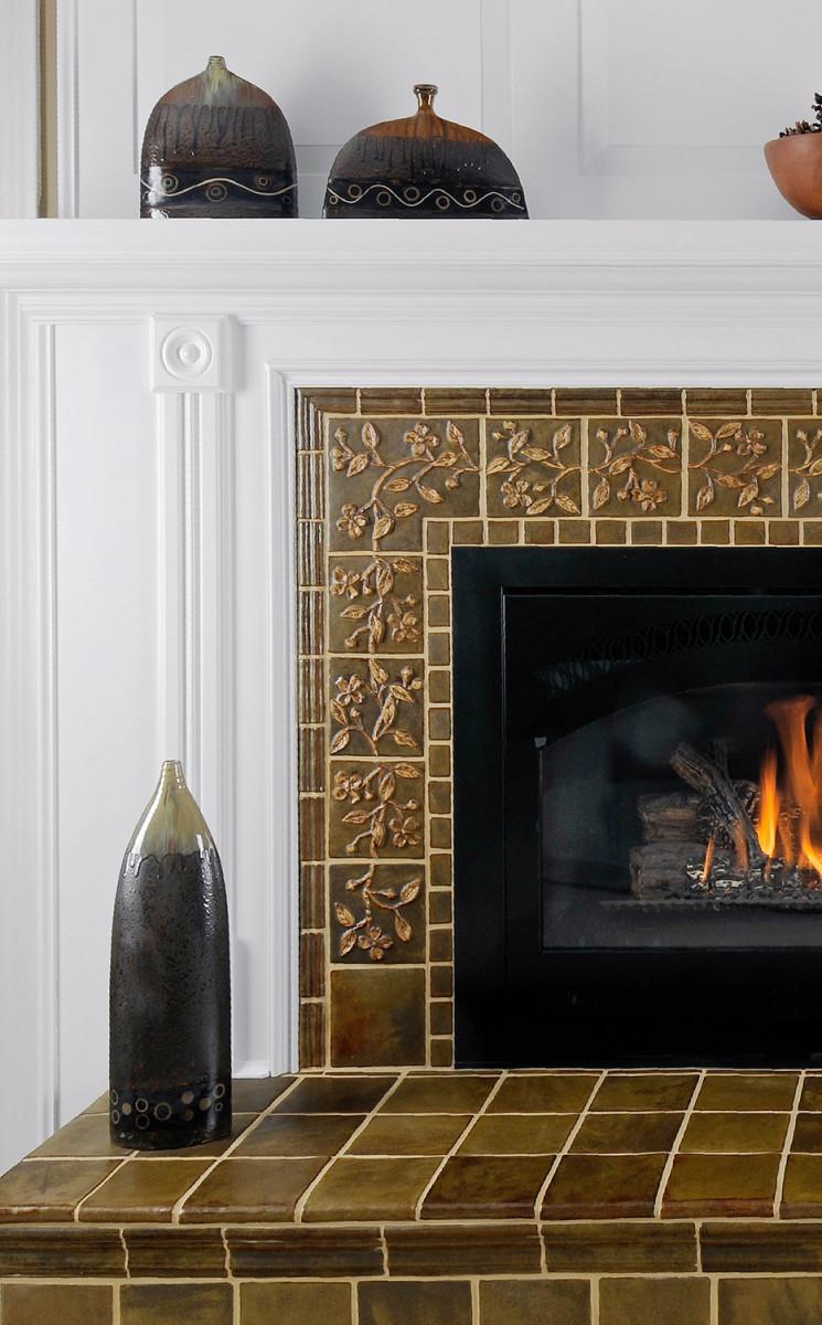 Dogwood decorative tile by Weaver Tile.