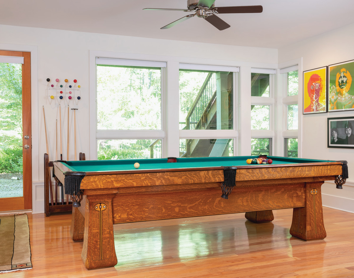 Brunswick Balke oak pool table