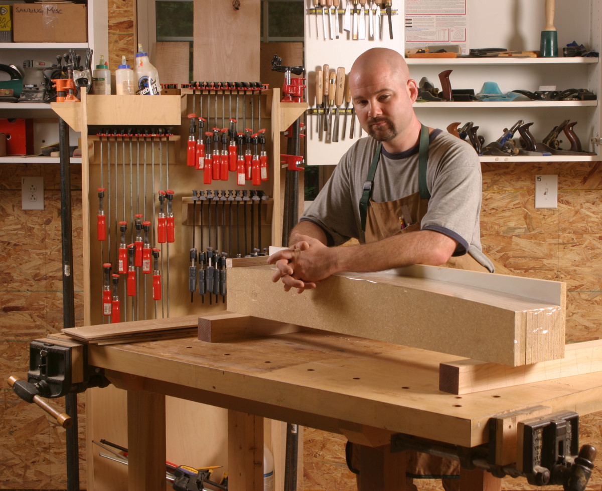 Greg Paolini in his woodshop, now as dedicated to cabinetry and millwork as furniture.