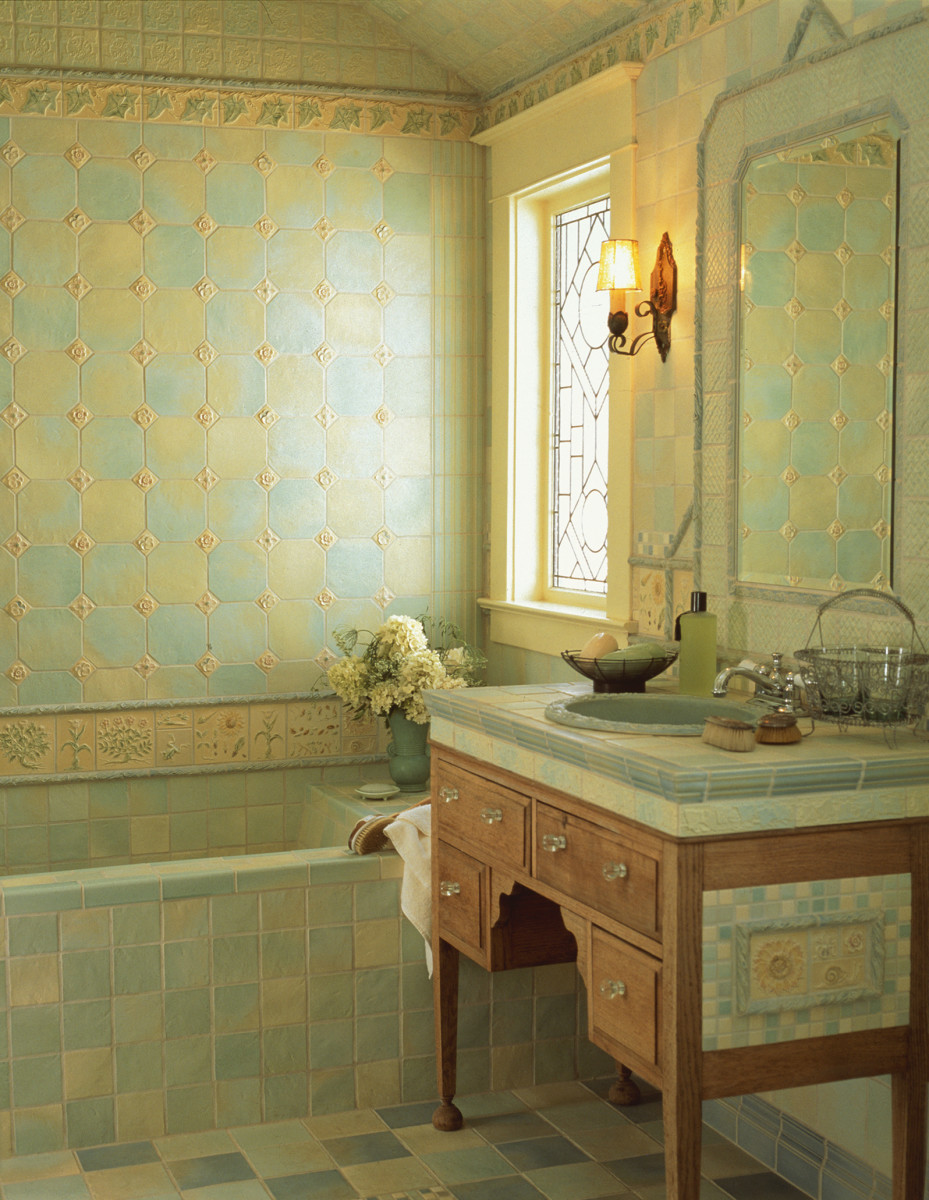Pratt & Larson bath tile