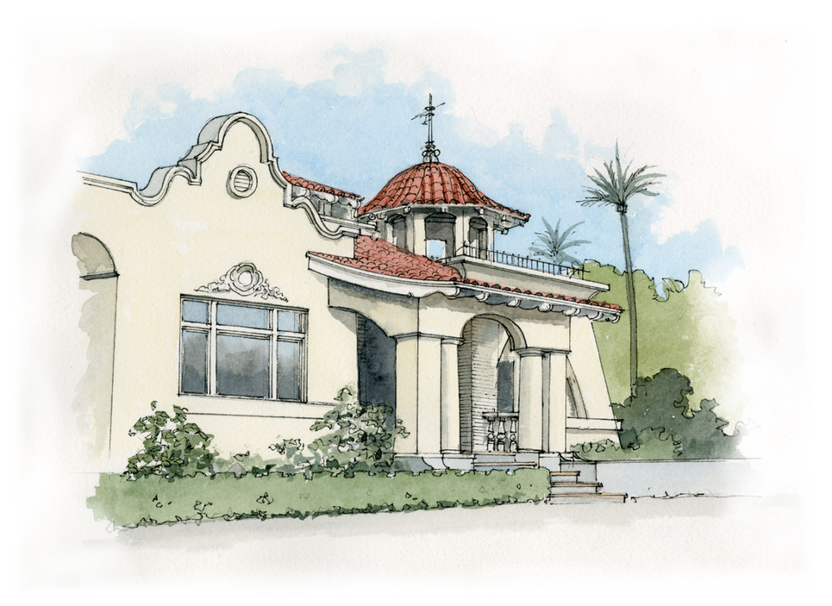 Mission Style Spanish Colonial Revival