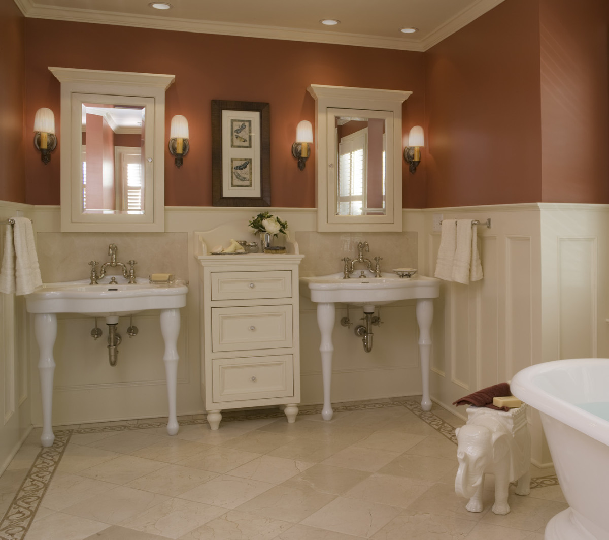 Bathrooms for the craftsman era design for the arts - Arts and crafts style bathroom design ...