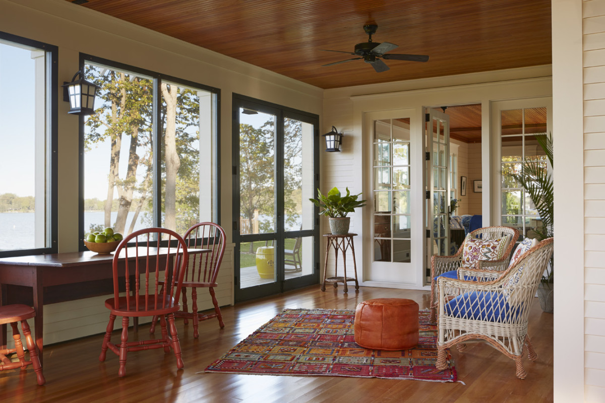 Lake front screened porch