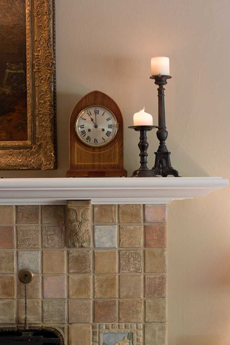 pale color palette with mantel