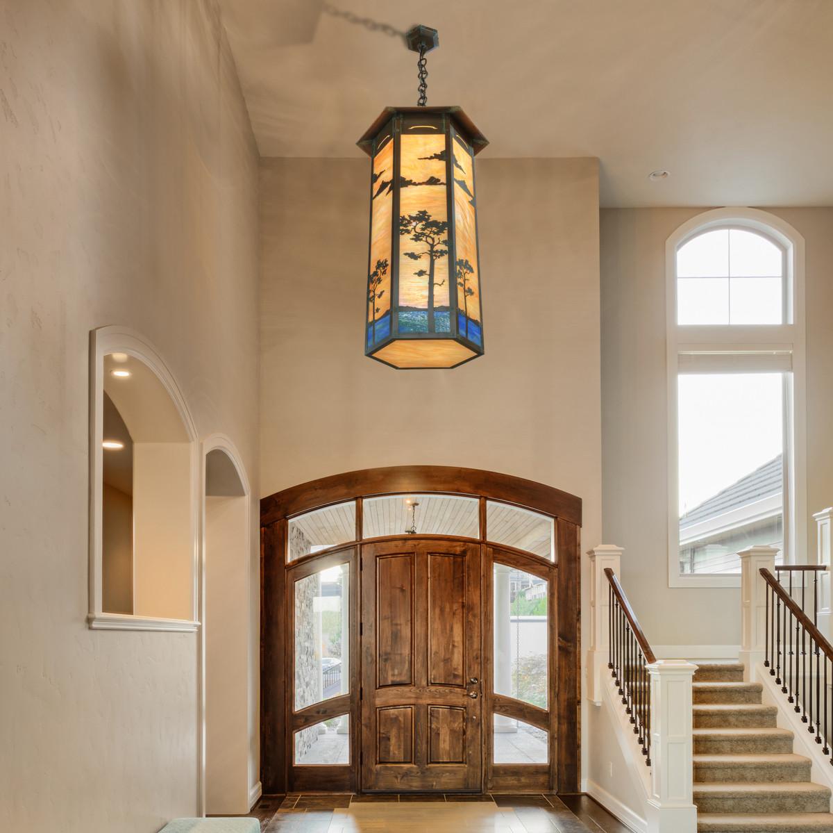 Old California's Large 6-sided Cobblestone Pendant Light